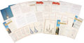 Explorers:Space Exploration, Soviet and Russian Space Award Citations: Lot of Twenty-Nine. ...(Total: 29 Items)