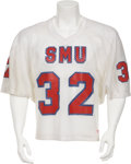 Football Collectibles:Uniforms, Circa 1982 Craig James Game Worn SMU Jersey....