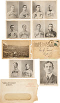 "Baseball Collectibles:Others, 1907 New York Giants ""Base Ball Mail Card"" Fold-Out Postcard...."
