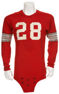 Football Collectibles:Uniforms, 1955 Will Booth Ohio State Game Worn Jersey & Big 10 Champions Jacket....