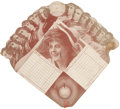 Baseball Collectibles:Others, Circa 1910 Major League Managers Scorecard Fan....