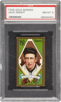 Baseball Cards:Singles (Pre-1930), 1911 T205 Gold Border Jack Knight PSA NM-MT 8 - Pop 2 With NoneHigher!...
