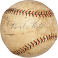 Autographs:Baseballs, Circa 1926 Babe Ruth Single Signed Baseball....