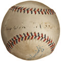 Autographs:Baseballs, Early 1930's Franklin D. Roosevelt Single Signed Baseball....