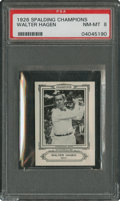 Golf Cards:General, 1926 Spalding Champions Walter Hagen PSA NM-MT 8 - With Coupon....