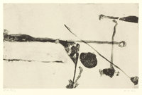 RICHARD DIEBENKORN (American, 1922-1993) Untitled # 9, 1992 Two color lithograph on paper 11 x 15