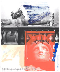 ROBERT RAUSCHENBERG (American, 1925-2008) For Ferraro, 1992 Color lithograph on paper 10 x 8-1/4