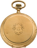 Timepieces:Pocket (post 1900), Waltham 12 Size Gold Hunters Case, circa 1908. ...