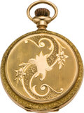 Timepieces:Pocket (post 1900), Elgin Lady's Gold Hunters Case, circa 1905. ...