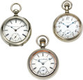 Timepieces:Pocket (pre 1900) , Three American 18 Size Pocket Watches, circa 1884 to 1912. ...(Total: 3 Items)