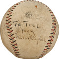 Autographs:Baseballs, Early 1930's Ki Ki Cuyler Single Signed Baseball....