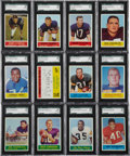 Football Cards:Sets, 1964 Philadelphia Football High Grade Complete Set (198) - With 91Graded Cards!...