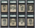 Baseball Cards:Lots, 1936 V355 World Wide Gum SGC-Graded Group of (8) - With Gehrig!...