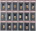 Football Cards:Sets, 1948 Topps Magic Photos Football Thrills (R Series) and All-American Football (C Series) Graded Complete Sets - Both #1 on the...