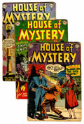 Silver Age (1956-1969):Horror, House of Mystery Group (DC, 1952) Condition: Average FR.... (Total:4 Comic Books)