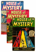 Silver Age (1956-1969):Horror, House of Mystery #21, 30, and 32 Group (DC, 1953-54) Condition:Average VG.... (Total: 3 Comic Books)