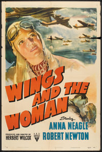 """Wings and the Woman (RKO, 1942). One Sheet (27"""" X 41"""") Drama"""