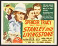 "Movie Posters:Adventure, Stanley and Livingstone (20th Century Fox, R-1946). Title Card andLobby Cards (7) (11"" X 14""). Adventure.. ... (Total: 8 Items)"