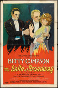 "Movie Posters:Drama, The Belle of Broadway (Columbia, 1926). One Sheet (27"" X 41"") StyleB. Drama.. ..."