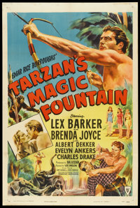 "Tarzan's Magic Fountain (RKO, 1949). One Sheet (27"" X 41""). Adventure"