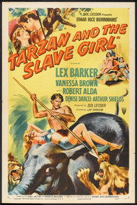 "Tarzan and the Slave Girl (RKO, 1950). One Sheet (27"" X 41""). Adventure"