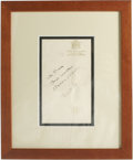 Autographs:Others, Mickey Mantle and Billy Martin Dual-Signed Hotel Stationary. Ayoung Mantle and his firecracker teammate Billy Martin each ...