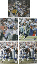 Football Collectibles:Others, Modern Dallas Cowboys Stars Signed Photographs Lot of 5. A trio of stars from modern incarnations of America's Team is repr...