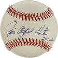 "Autographs:Baseballs, Jim Catfish Hunter ""224 Wins"" Single Signed Baseball. Cooperstownmember Catfish Hunter announces his career win total with..."
