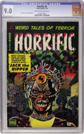 Golden Age (1938-1955):Horror, Horrific #6 (Comic Media, 1954) CGC VF/NM 9.0 Cream to off-whitepages....