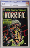 Golden Age (1938-1955):Horror, Horrific #9 (Comic Media, 1954) CGC VF/NM 9.0 Off-white pages....