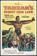 """Movie Posters:Adventure, Tarzan's Fight for Life (MGM, 1958). Autographed One Sheet (27"""" X41""""). Adventure.. ..."""