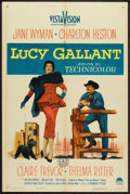 "Movie Posters:Drama, Lucy Gallant (Paramount, 1955). One Sheet (27"" X 41""). Drama.. ..."
