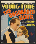 "Movie Posters:Crime, The Unguarded Hour (MGM, 1936). Window Card (14"" X 16.5""). Crime....."