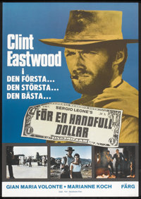 "A Fistful of Dollars (Fox-Stockholm, R-1975). Swedish One Sheet (27.5"" X 39.5""). Western"