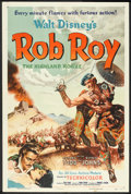 """Movie Posters:Adventure, Rob Roy, the Highland Rogue (RKO, 1954). One Sheet (27"""" X 41"""")Style A. Adventure.. ..."""