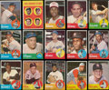 Baseball Cards:Sets, 1963 Topps Baseball High-Grade Partial Set (374) Plus One Variation and Two Blank Back Proofs. ...