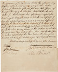 """Autographs:Military Figures, John Brown of Osawatomie Signed Document. One page, front and verso, 7.5"""" x 12.5"""", July 18, 1828, Meadville, Pennsylvania. T..."""