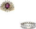 Estate Jewelry:Rings, Lot of Ruby, Diamond, Gold Rings. ... (Total: 2 Items)