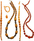 Estate Jewelry:Lots, Lot of Amber Jewelry. ... (Total: 6 Items)