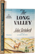 Books:First Editions, John Steinbeck. Two Books, including: The Long Valley. NewYork: Viking, 1938. First edition. Octavo. 303 pages. Cre...(Total: 2 Items)