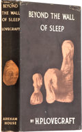 "Books:First Editions, H. P. Lovecraft. Beyond the Wall of Sleep. Arkham House:Sauk City, 1943.. First edition. Laid in is bookplate: ""F..."