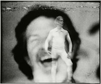 NAM JUNE PAIK (South Korean, 1932-2006) Untitled (Merce Cunningham), 1990 Black and white photograph