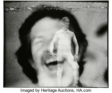 NAM JUNE PAIK (South Korean, 1932-2006)Untitled (Merce Cunningham), 1990Black and white photograph16 x 19-3/4 inch...