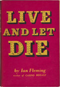 Books:Signed Editions, Ian Fleming. Live and Let Die. London: Jonathan Cape,[1954].. First edition. Inscribed by Fleming on the ...