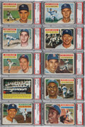 Baseball Cards:Sets, 1956 Topps Mid To High Grade Complete Set (340) Plus BothChecklists!...