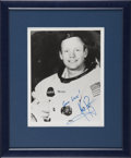 Autographs:Celebrities, Neil Armstrong Signed White Spacesuit Photo, Uninscribed....