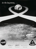 Autographs:Celebrities, Apollo 8 Crew-Signed 25th Anniversary Poster Directly from thePersonal Collection of Astronaut Paul Weitz, Certified and Sign...