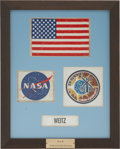 Explorers:Space Exploration, Skylab I (SL-2) Flown Pressure Suit Patches (Four) Directly fromthe Personal Collection of Mission Pilot Paul Weitz, Certifie...