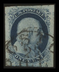 Stamps, 1c Blue (7),...