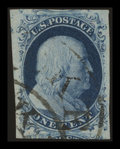 Stamps, 1c Blue (9),...